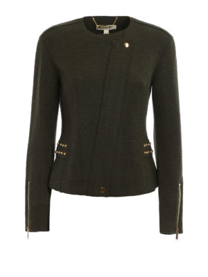 Michael Kors: casual jackets - Double-breasted knitted zip jacket