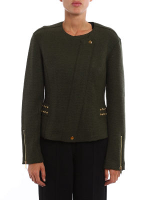 Michael Kors: casual jackets online - Double-breasted knitted zip jacket