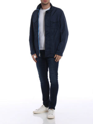 Michael Kors: casual jackets online - Travel engineered blue jacket