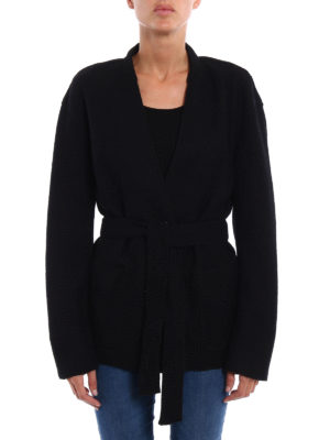 Michael Kors: casual jackets online - Wool blend knitted cardigan jacket