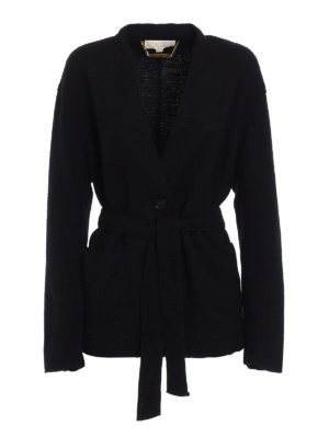 Michael Kors: casual jackets - Wool blend knitted cardigan jacket