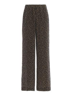 MICHAEL KORS: pantaloni casual - Pantaloni stile pigiama in seta animalier