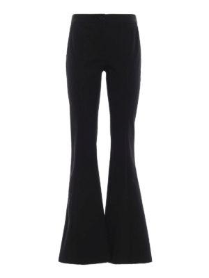MICHAEL KORS: pantaloni casual - Pantaloni neri in misto cotone a zampa