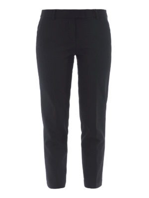 Michael Kors: casual trousers - Black cropped cigarette trousers