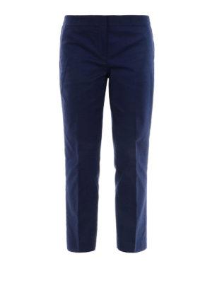 MICHAEL KORS: pantaloni casual - Pantaloni chino crop blu