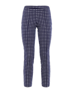 Michael Kors: casual trousers - Checked jersey trousers