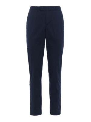 Michael Kors: casual trousers - Contrasting band cotton trousers