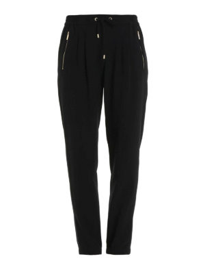Michael Kors: casual trousers - Drawstring detailed soft trousers