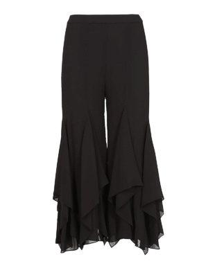 MICHAEL KORS: pantaloni casual - Pantaloni in georgette con volant