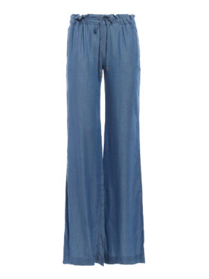 Michael Kors: casual trousers - Gathered waist palazzo trousers