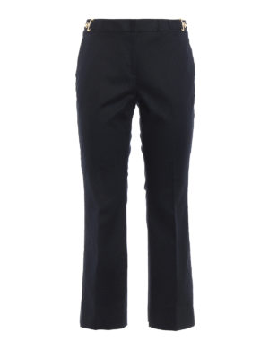 Michael Kors: casual trousers - Gold-tone detailed crop trousers