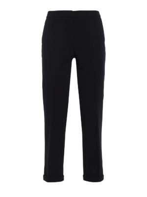 Michael Kors: casual trousers - Heavy cady cropped trousers