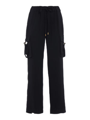 Michael Kors: casual trousers - Loose cargo cady trousers