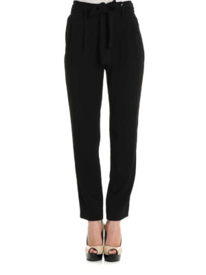 Michael Kors: casual trousers online - Belt detailed cady trousers