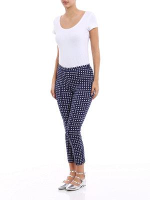 Michael Kors: casual trousers online - Checked jersey trousers