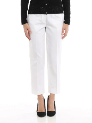 Michael Kors: casual trousers online - Cotton crop casual trousers