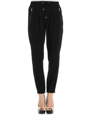 Michael Kors: casual trousers online - Drawstring detailed soft trousers