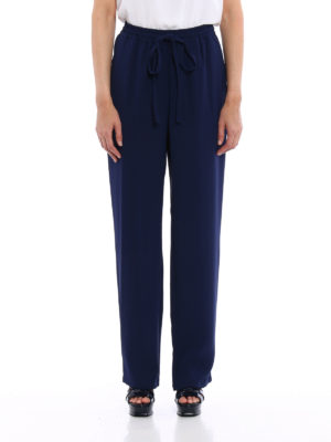 Michael Kors: casual trousers online - Flared loose fit trousers