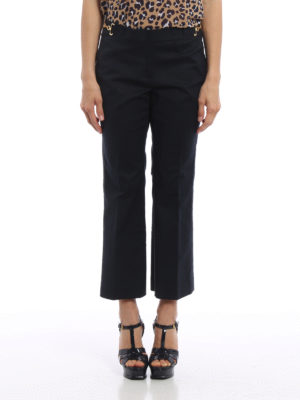 Michael Kors: casual trousers online - Gold-tone detailed crop trousers