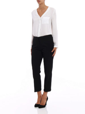 Michael Kors: casual trousers online - Heavy cady cropped trousers