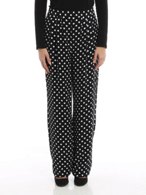 Michael Kors: casual trousers online - Polka dot casual trousers