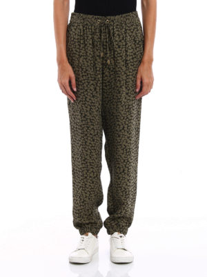 Michael Kors: casual trousers online - Printed silk loose trousers