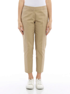 Michael Kors: casual trousers online - Stretch cotton crop trousers