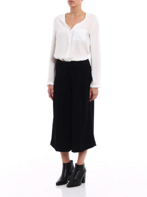 Michael Kors: casual trousers online - Wide leg cady culottes
