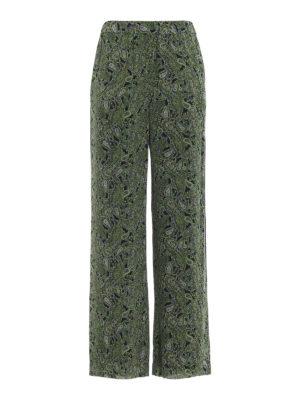 MICHAEL KORS: pantaloni casual - Pantaloni larghi stile pigiama stampa Paisley