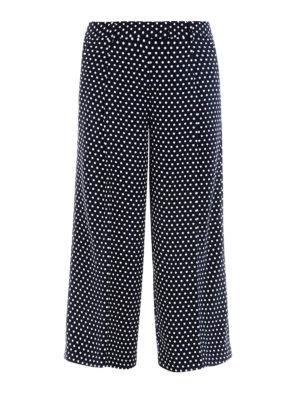 MICHAEL KORS: pantaloni casual - Culotte in tessuto tecnico a pois