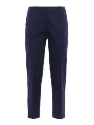 Michael Kors: casual trousers - Stretch cotton crop trousers