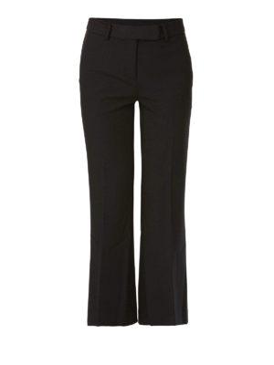 MICHAEL KORS: pantaloni casual - Pantaloni crop a zampa in misto viscosa
