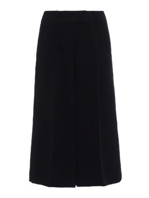 Michael Kors: casual trousers - Wide leg cady culottes