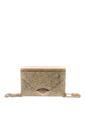 Michael Kors: clutches - Barbara glitter and leather clutch