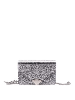 Michael Kors: clutches - Barbara leather and glitter clutch