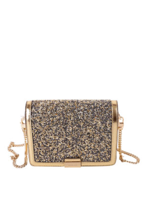 Michael Kors: clutches - Crystals detailed leather clutch