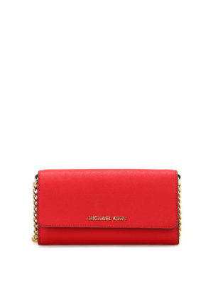 Michael Kors: clutches - Jet Set Travel leather clutch