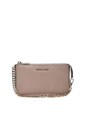 MICHAEL KORS: pochette - Clutch Medium Chain in pelle