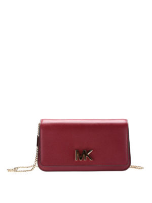 Michael Kors: clutches - Mott red leather large clutch