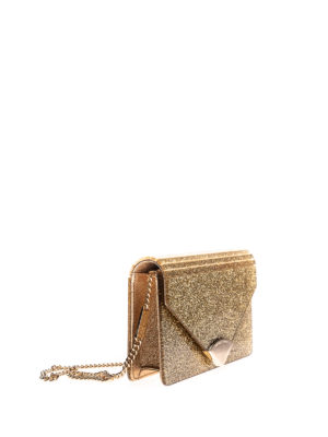 Michael Kors: clutches online - Barbara glitter and leather clutch