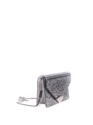 Michael Kors: clutches online - Barbara leather and glitter clutch