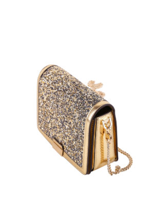 Michael Kors: clutches online - Crystals detailed leather clutch