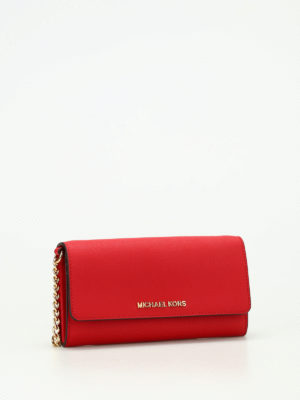 Michael Kors: clutches online - Jet Set Travel leather clutch