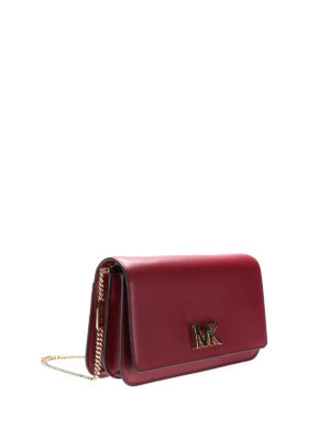 Michael Kors: clutches online - Mott red leather large clutch