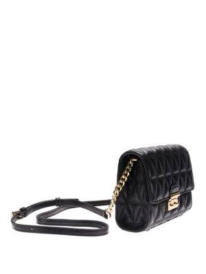 Michael Kors: clutches online - Quilted black leather clutch
