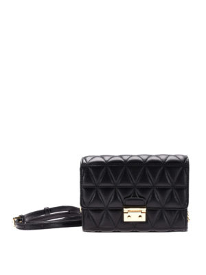 Michael Kors: clutches - Quilted black leather clutch