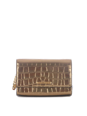 Michael Kors: clutches - Ruby mirror leather medium bag