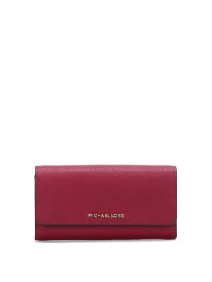 Michael Kors: clutches - Wallet on a chain saffiano clutch
