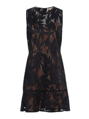 Michael Kors: cocktail dresses - Leaf pattern mesh dress