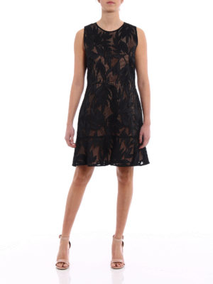 Michael Kors: cocktail dresses online - Leaf pattern mesh dress